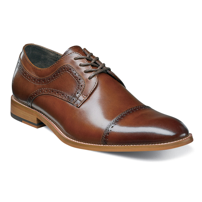 Stacy Adams Men's Dickinson Cap Toe Oxford - Cognac