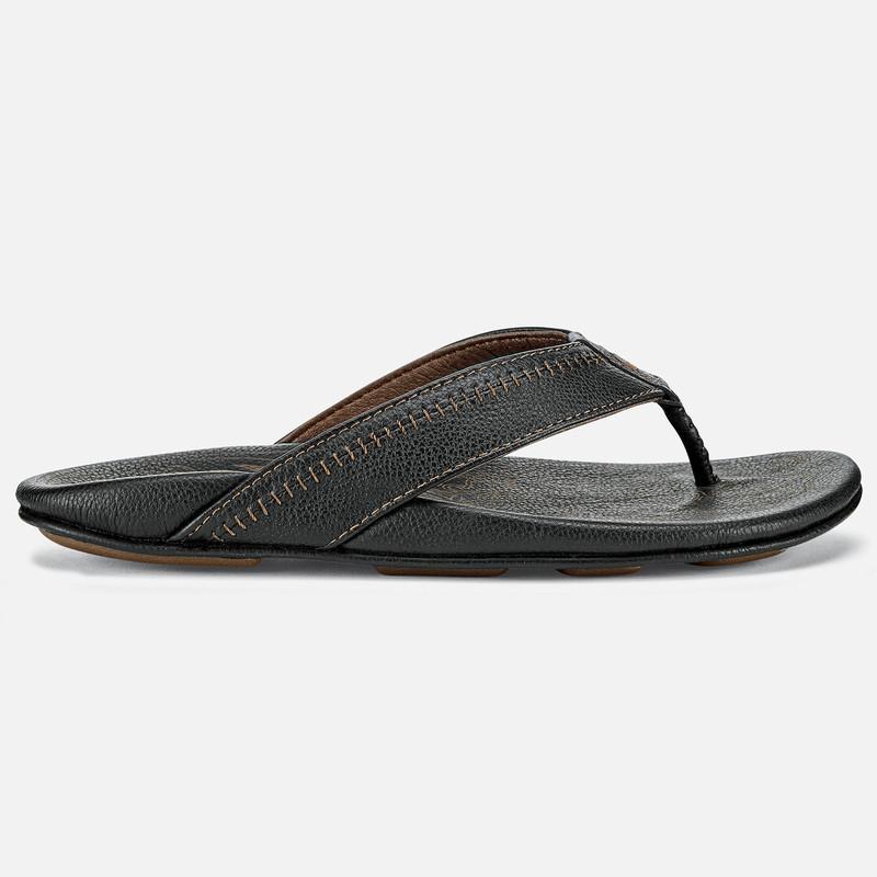 Olukai Men's Hiapo Sandal - Black / Black