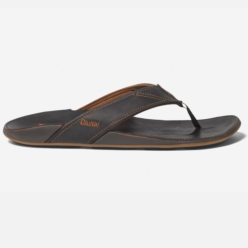 Olukai Men's Nui Sandal - Dark Java / Dark Java