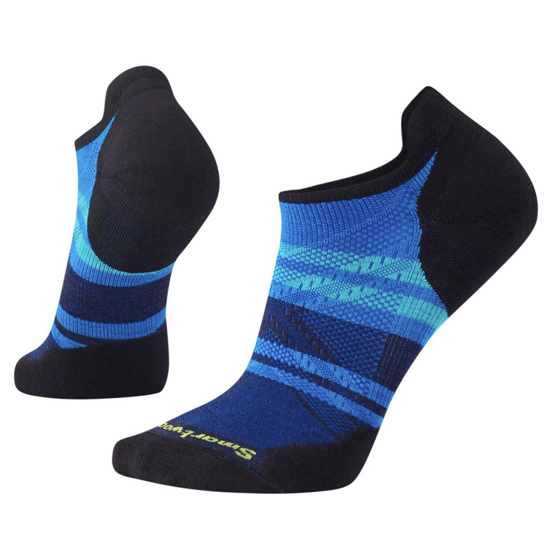 Smartwool Men's PhD Run Light Elite Pattern Micro Socks - Bright Blue