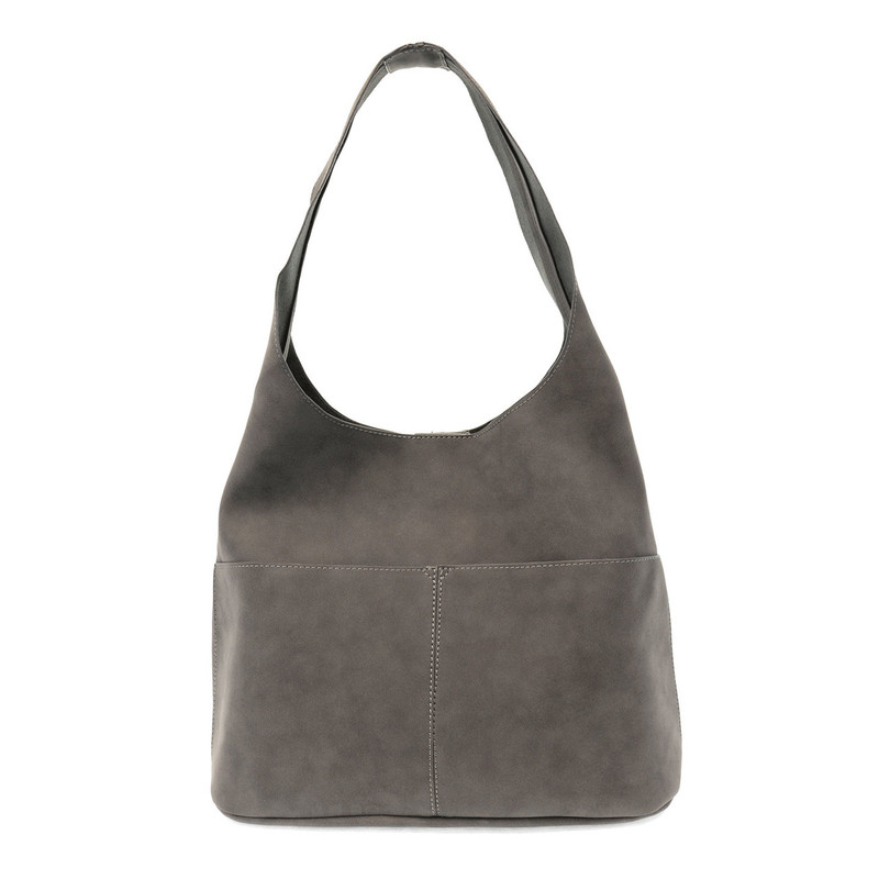 Joy Susan Jenny Hobo Handbag - Dark Grey - L8039-98 - Profile
