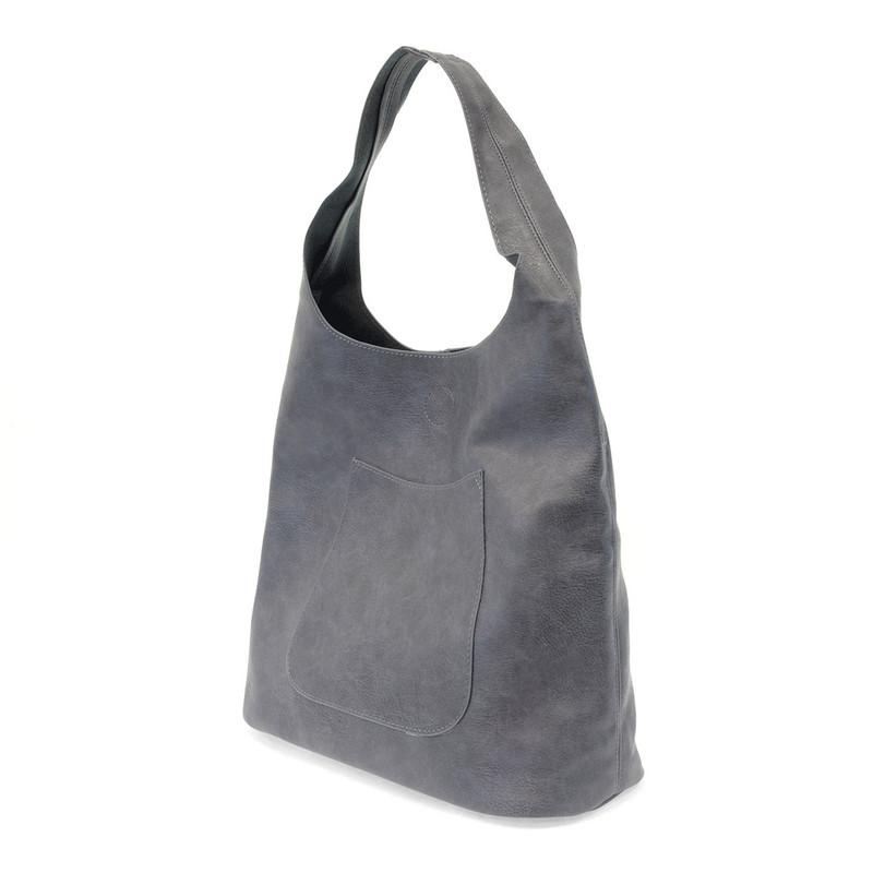 Joy Susan Molly Slouchy Hobo Handbag - Denim - L8017-33 - Angle