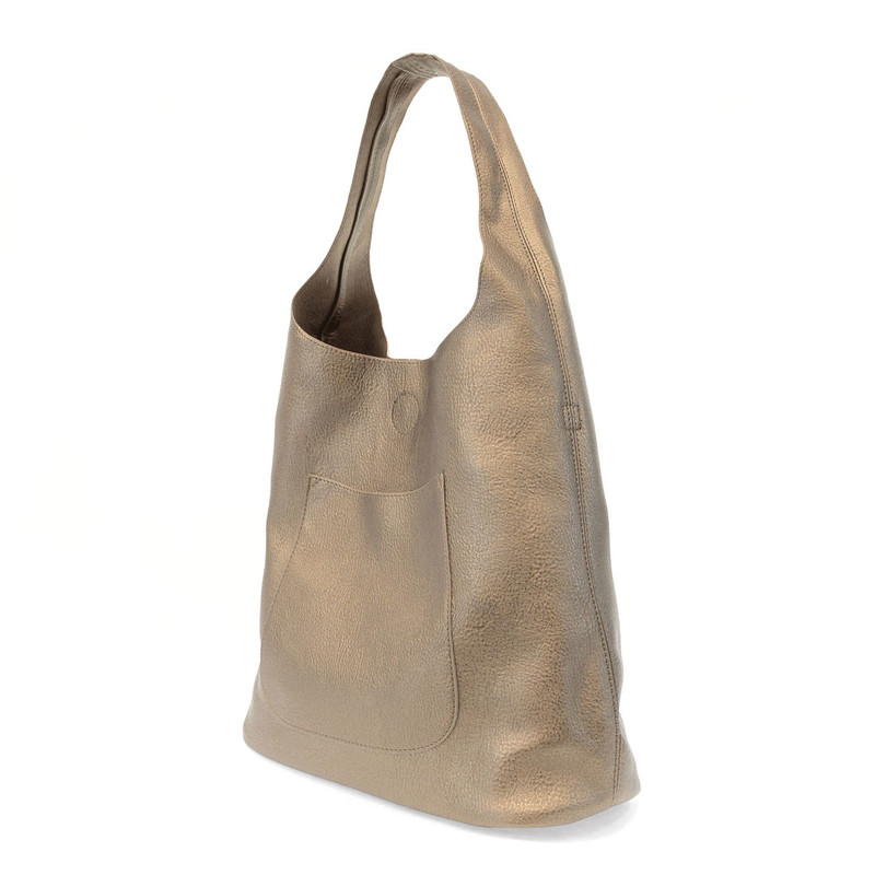 Joy Susan Molly Slouchy Hobo Handbag - Metallic Olive