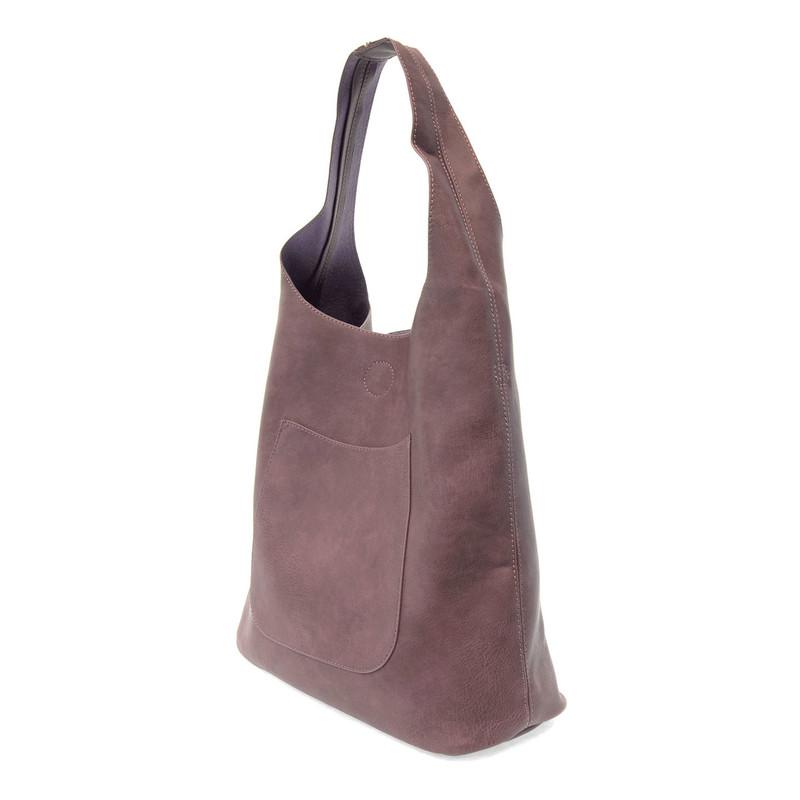 Joy Susan Molly Slouchy Hobo Handbag - Plum - L8017-92 - Angle