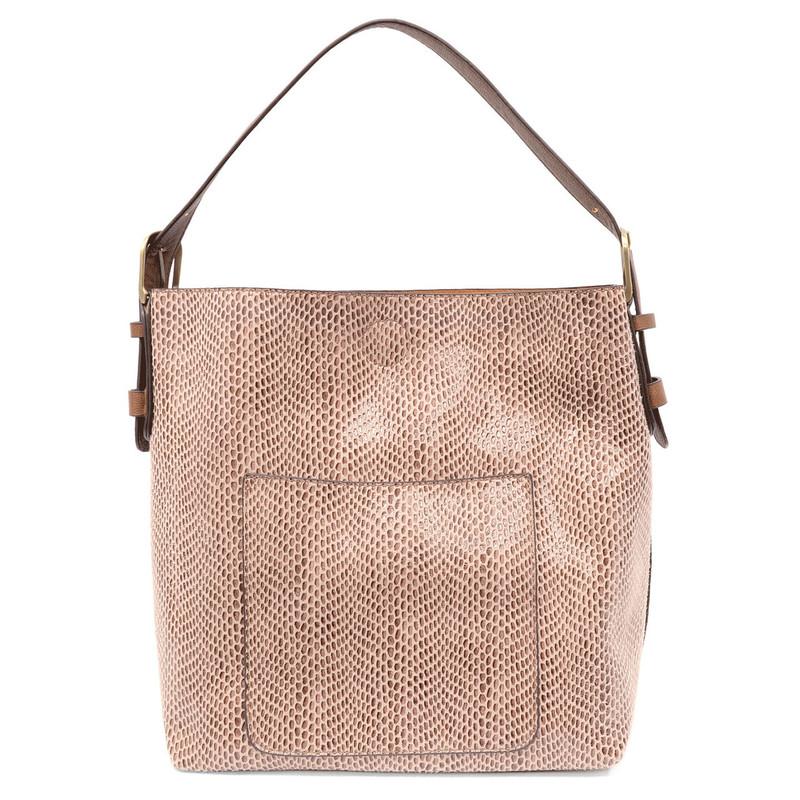 Joy Susan Python Sara Bucket Bag - Mauve