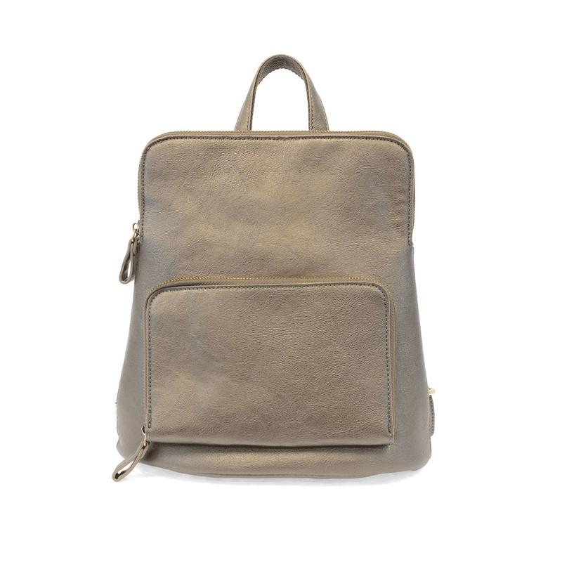 Joy Susan Julia Mini Backpack - Metallic Khaki - L8038-40 - Profile