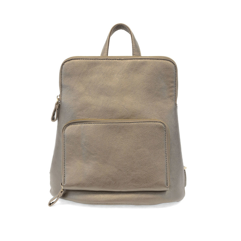 Joy Susan Julia Mini Backpack - Metallic Khaki