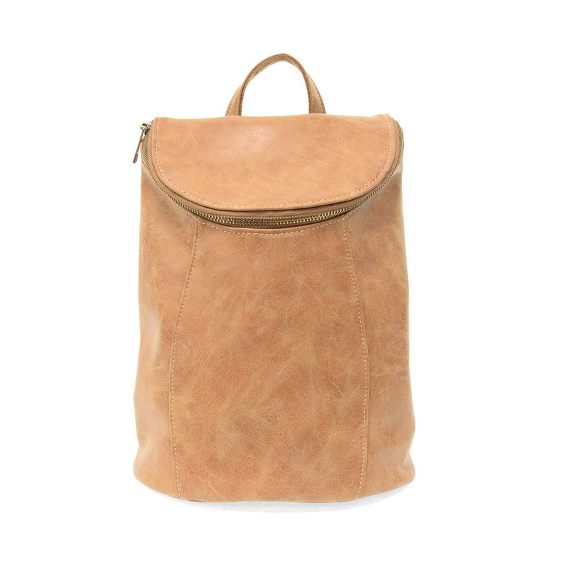 Joy Susan Alyssa Distressed Backpack - Walnut - L8040-02 - Profile