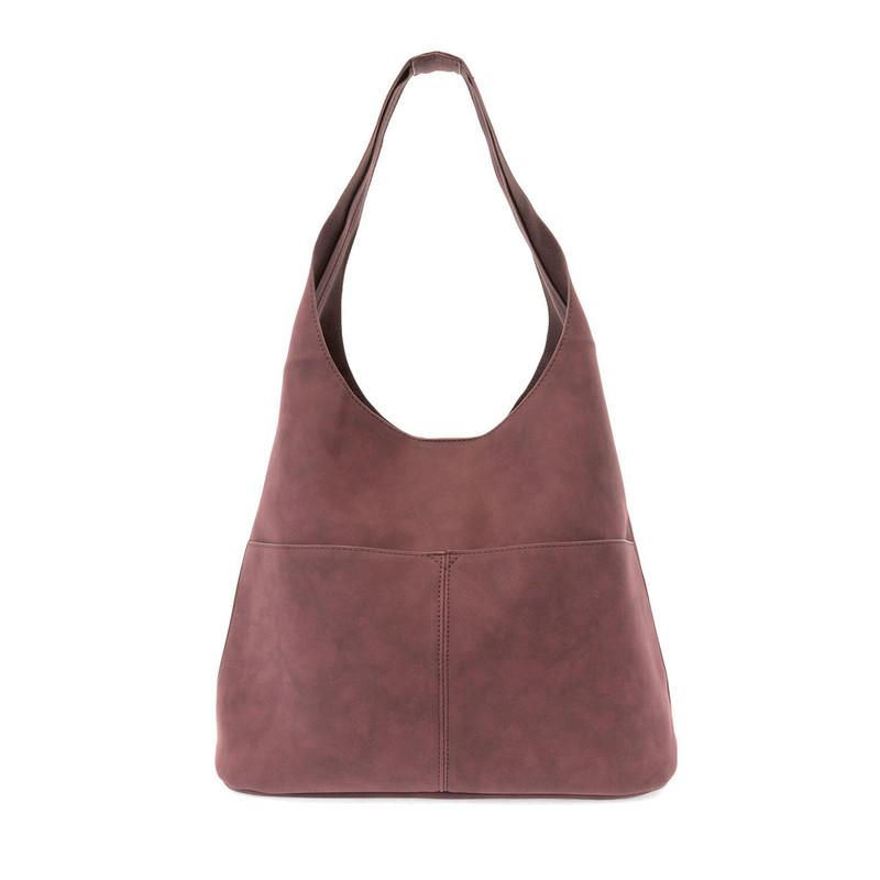 Joy Susan Jenny Hobo Handbag - Burgundy - L8039-53 - Profile