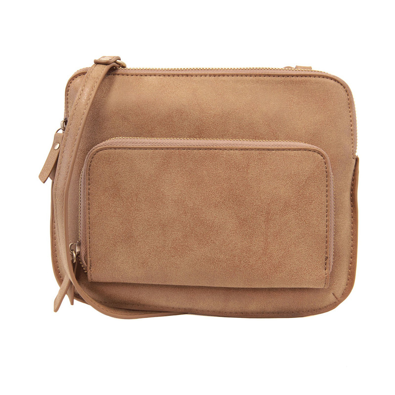 Joy Susan New Nicole Distressed Crossbody - Acorn - L8029-27 - Profile
