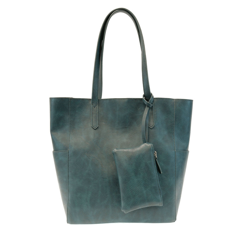Joy Susan North South Bella Tote - Teal - L8036-13 - Profile