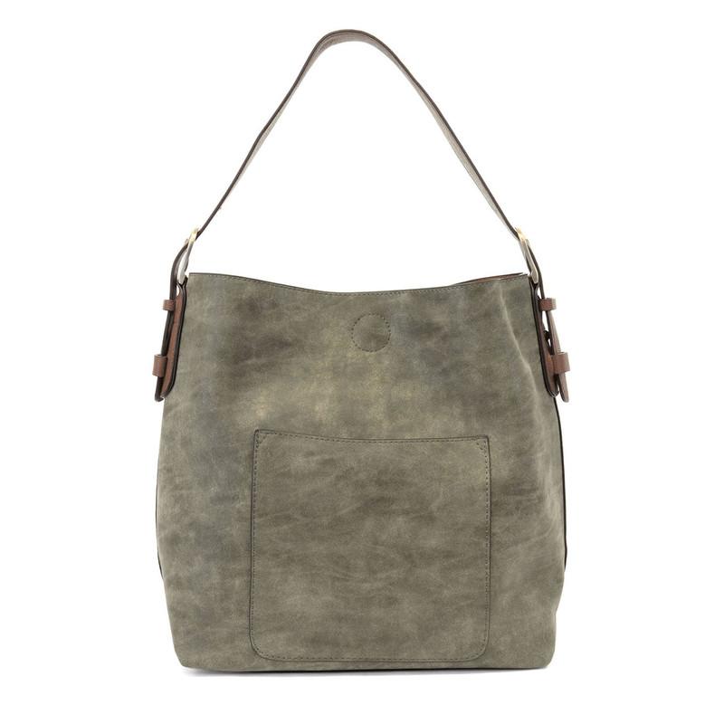 Joy Susan Lux Hobo Handbag - Olive / Coffee