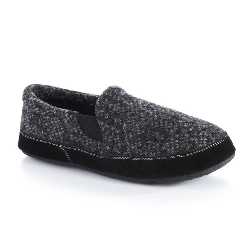 Acorn Men's Fave Gore Slipper Wide - Charcoal Tweed