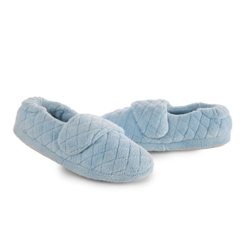 Acorn Women's Spa Wrap Slippers Wide - Powder Blue - A10631AEV-WIDE - Pair