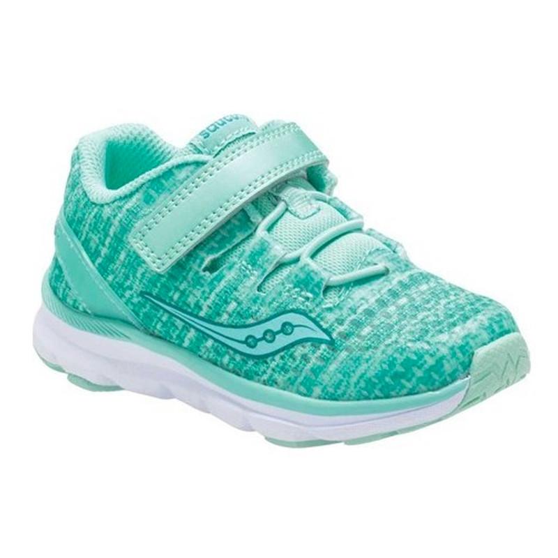 Saucony Baby Freedom ISO Sneaker - Aqua Synthetic / Mesh