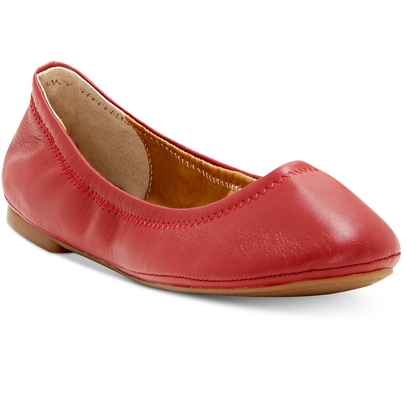 Lucky Brand Women's Emmie Flat - Biking Red