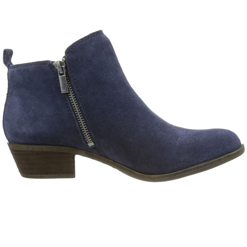 Lucky Brand Women's Basel Bootie - Blue Suede - BASEL/BLUE - Profile