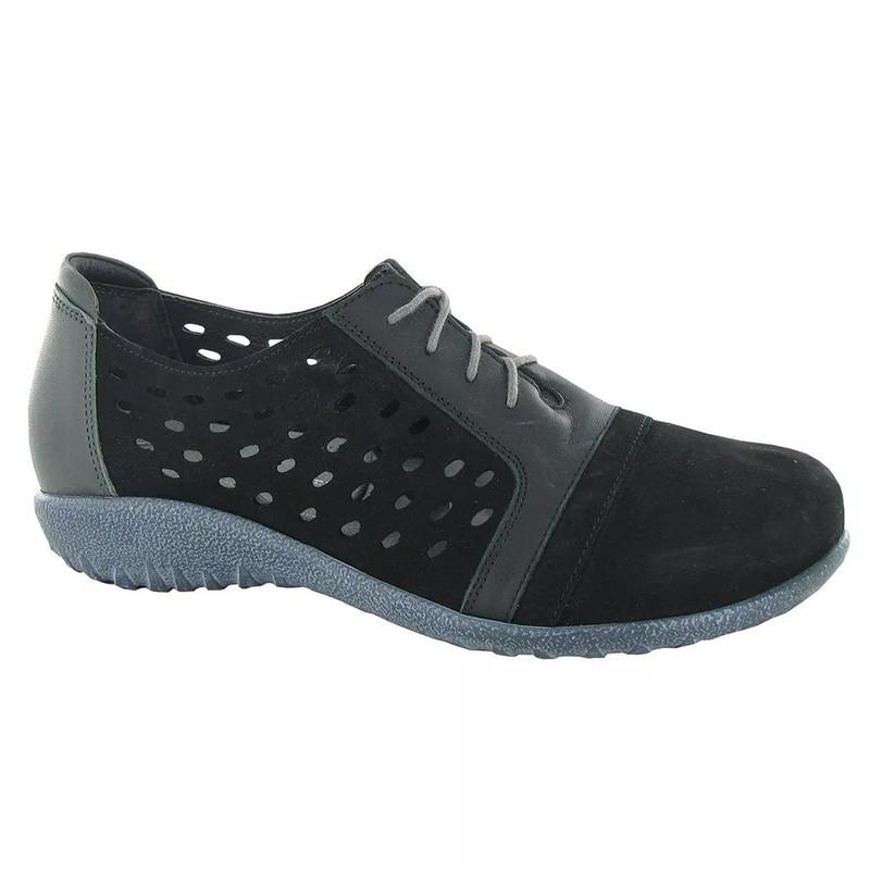 Naot Women's Lalo Sneaker - Black Nubuck - 11141-NKS - Main Image