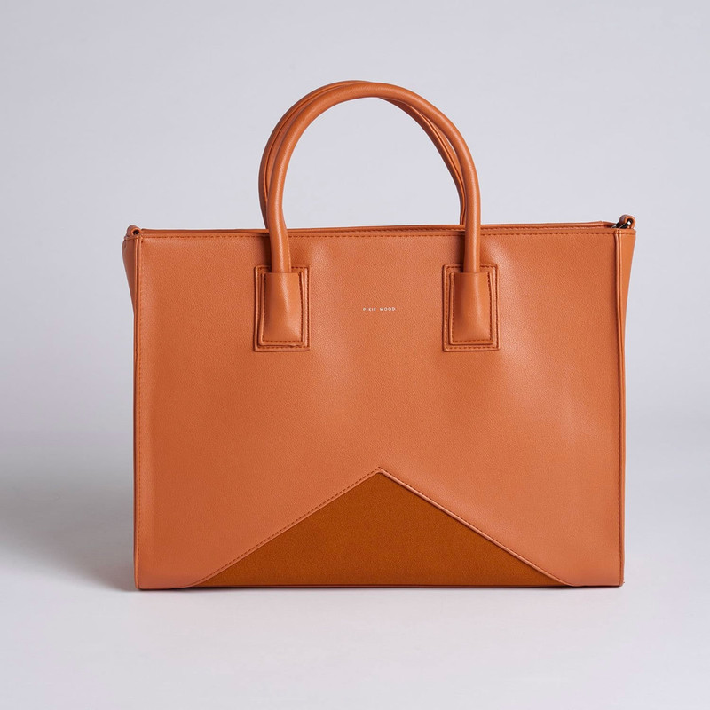 Pixie Mood Greta Work Tote - Caramel - Profile