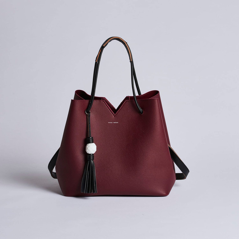 Pixie Mood Jasmine Tote Bag - Burgundy - Profile