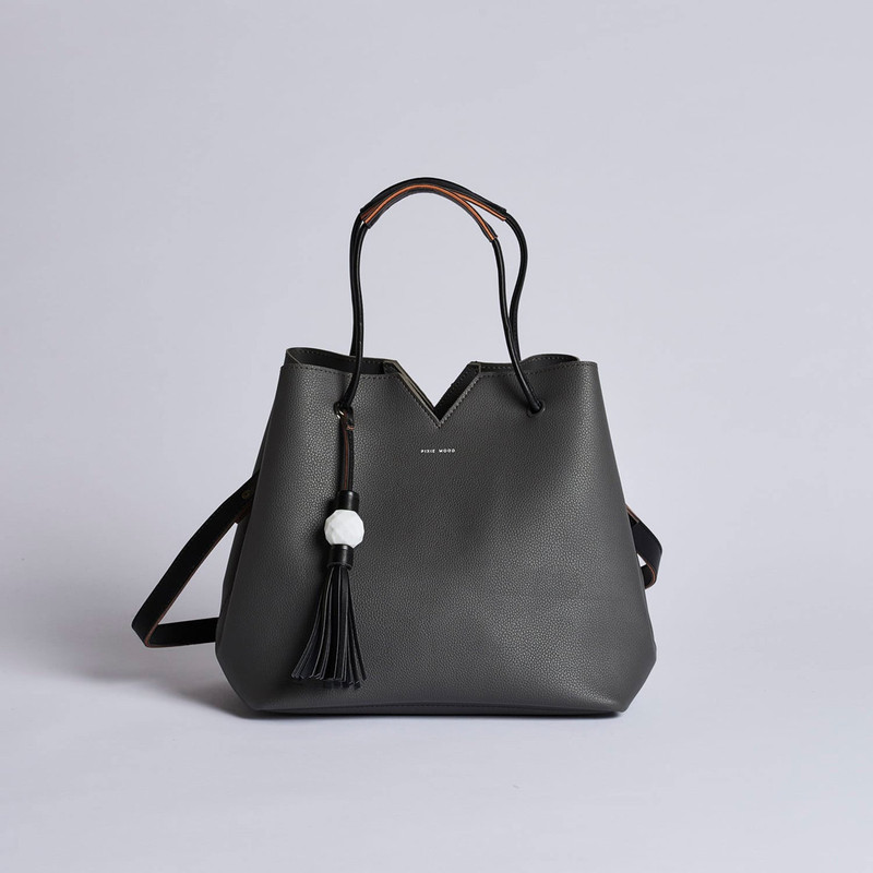 Pixie Mood Jasmine Tote Bag - Dark Grey - Profile