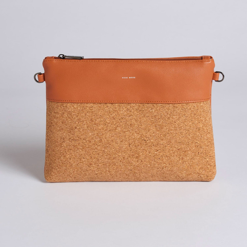 Pixie Mood Nicole Pouch Large - Caramel / Cork - Profile