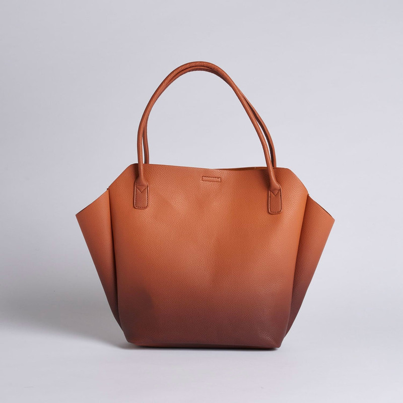 Pixie Mood Rachel Tote Small - Ombre Nutmeg Brown - Profile