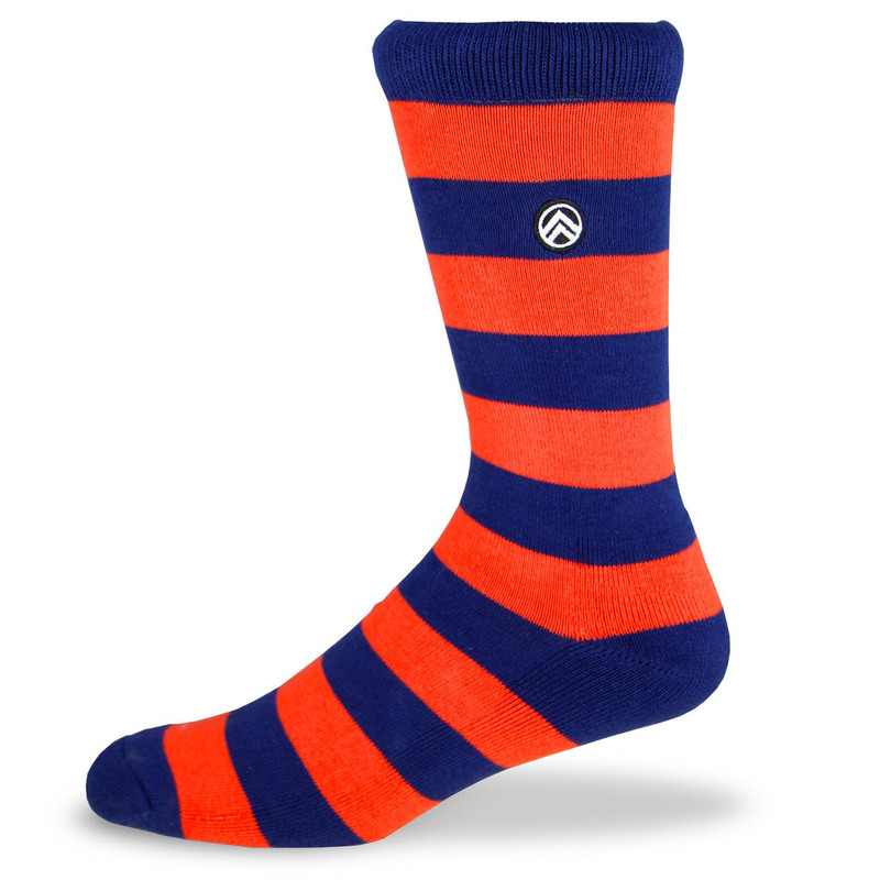 Sky Footwear Rugby Crew Socks - Orange / Blue - Main Image