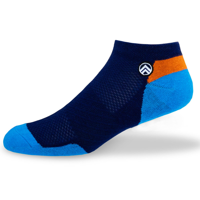 Sky Footwear Venice Beach Ankle Socks - Blue / Navy / Orange - Main  - SKY/VENICE