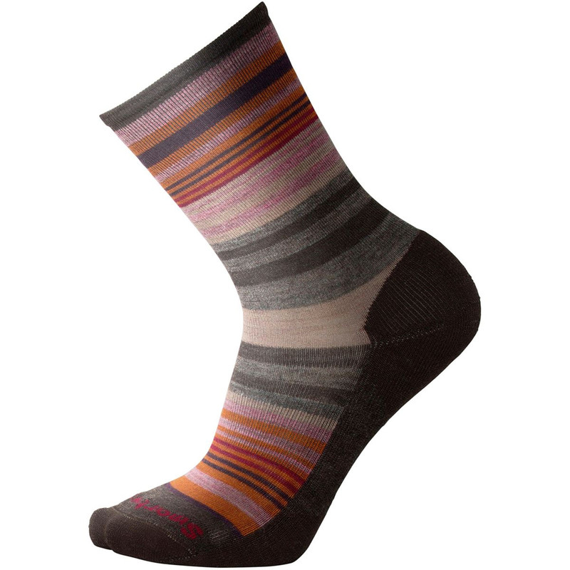 Smartwool Women's Jovian Stripe Socks - Chestnut Heather - SW599-216 - Profile