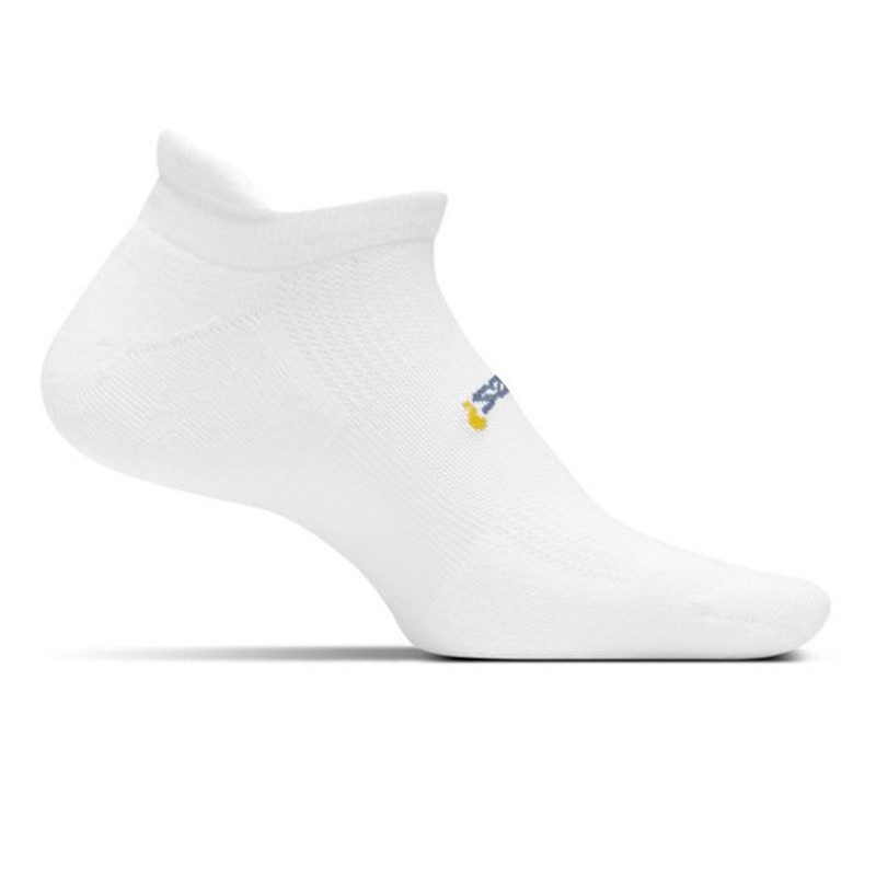 Feetures High Performance Cushion No Show Tab Sock - White - FA5000