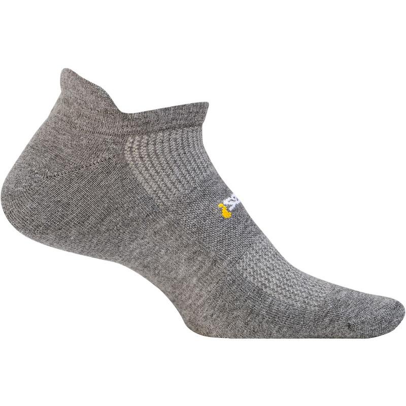 Feetures High Performance Cushion No Show Tab Sock - Grey - FA5058