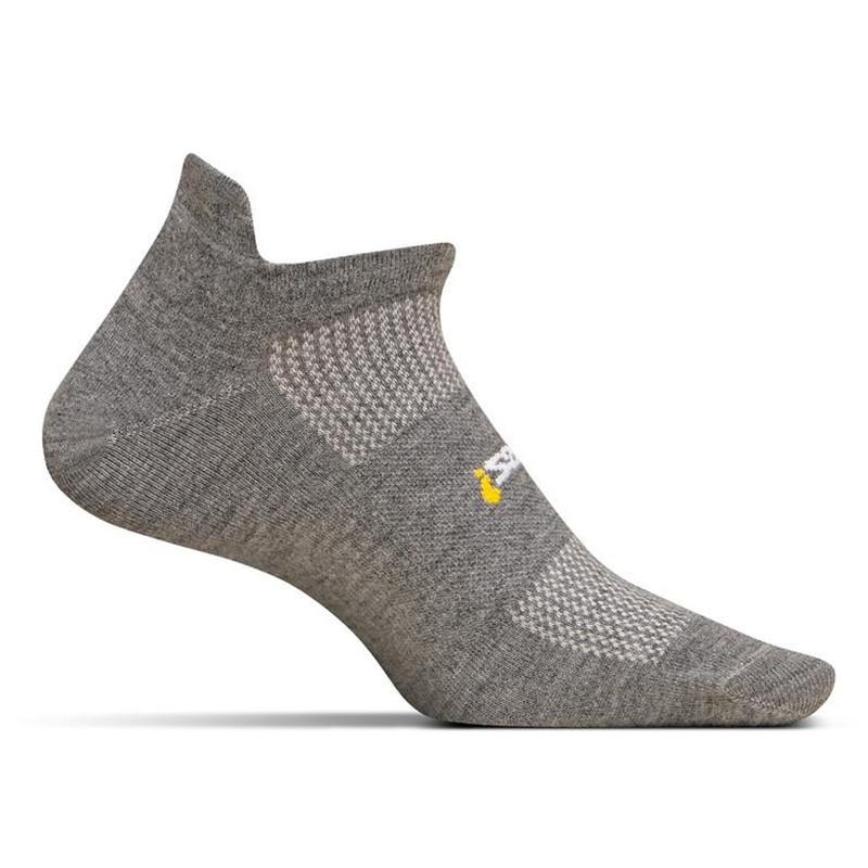 Feetures High Performance Ultra Light No Show Tab Sock - Grey - FA5558