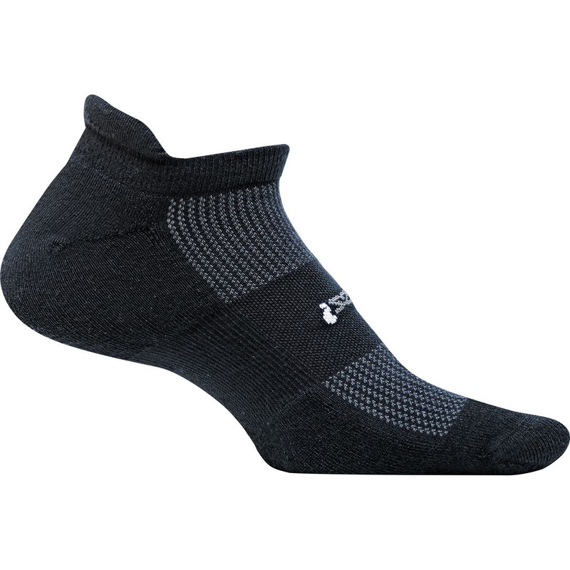 Feetures High Performance Cushion No Show Tab Sock - Black - FA5001 - Main Image