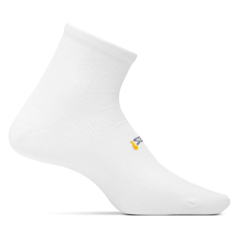 Feetures High Performance Ultra Light Cushion Quarter Socks - White (FA2500)