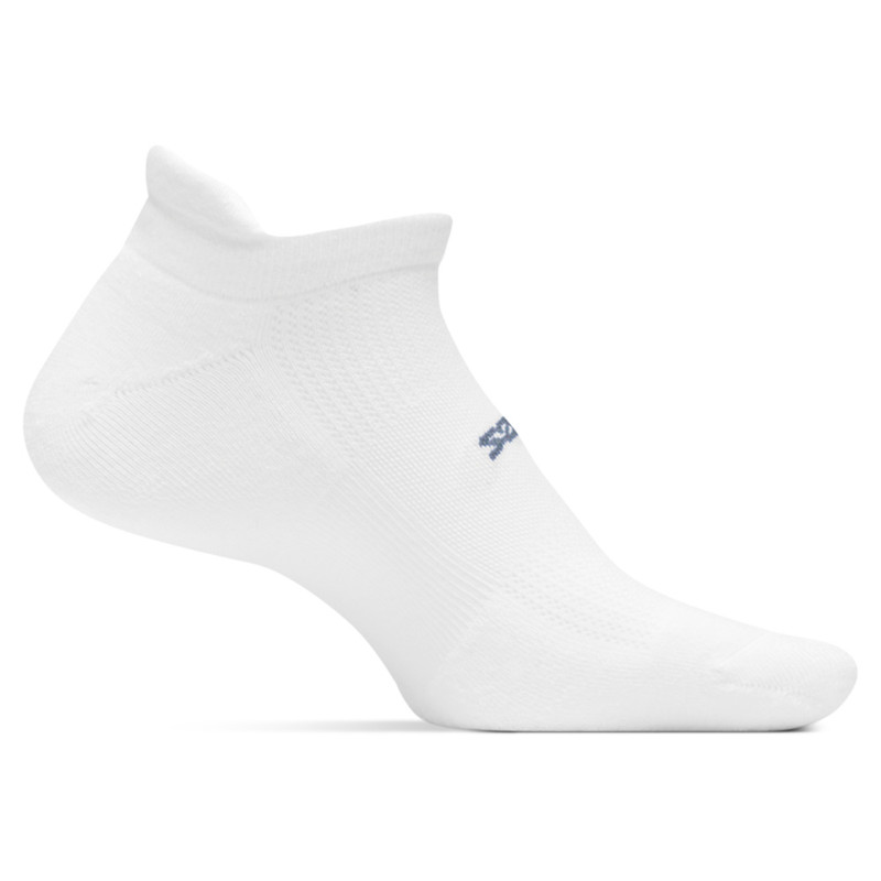 Feetures High Performance Ultra Light No Show Tab Sock - White - FA5500