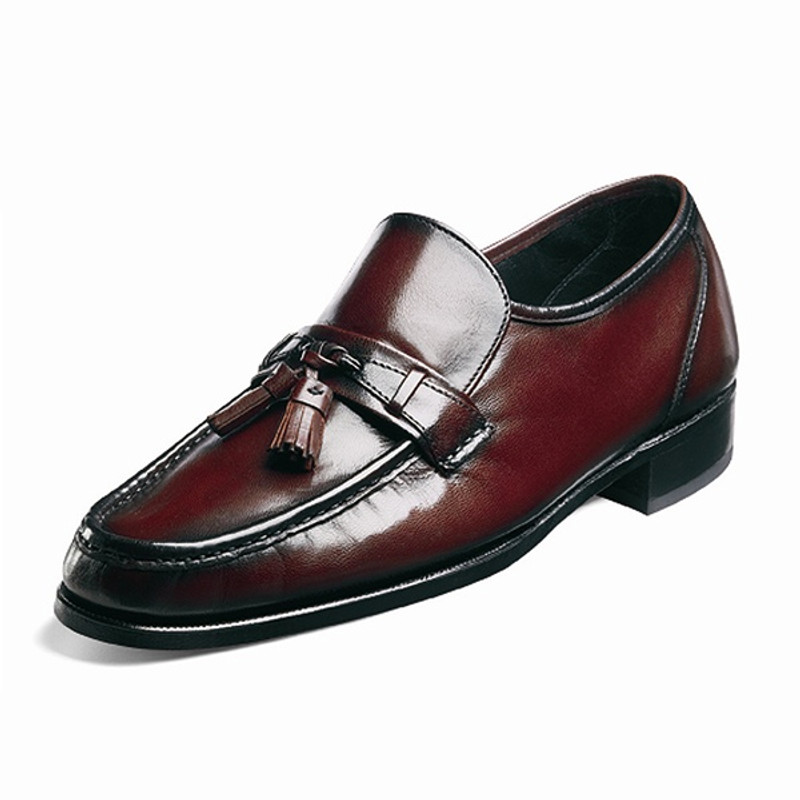 Florsheim Men's Como Tassle Loafer - Black Cherry