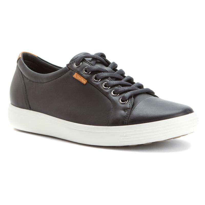 ECCO Women's Soft 7 Sneakers - Black - 430003-01001 - Angle