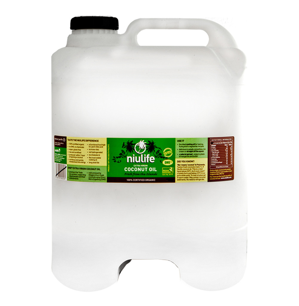 Bulk Certified Organic Extra Virgin Coconut Oil - 20L Cube