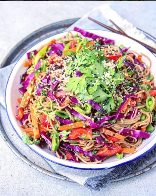 Soba Noodle Salad with a Peanut & Cocomino Sauce