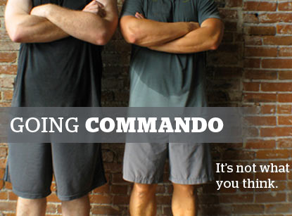 What does it mean by going commando