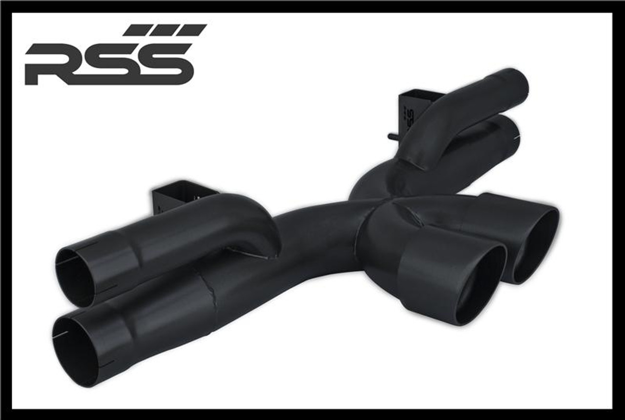 RSS is proud to announce the release of the New 991.1 GT3 X-Pipe Center Exhaust. The 991 GT3 X-Pipe (1208 Series) features the Signature RSS Motorsport Sound with X-Cross Over Design and is engineered for sustained use at 9000 RPM! Designed specifically for the 991.1 GT3, the new X-Pipe features a very robust mounting system that eliminates the commonly used chassis mounting straps which are considered problematic and failure prone for sustained high RPM use. The RSS 991 GT3 X-PIPE CENTER EXHAUST (1208 Series) • One Piece Exhaust Featuring X-Crossover Design • Aggressively Tuned Motorsport Sound and Styling • 50% Weight Reduction Vs. OE Center Exhaust • Tig Welded 304 Stainless Steel Construction • Emissions Compliant: EU, EPA, and CARB • Finished in High Polish • Handmade in Southern California, USA