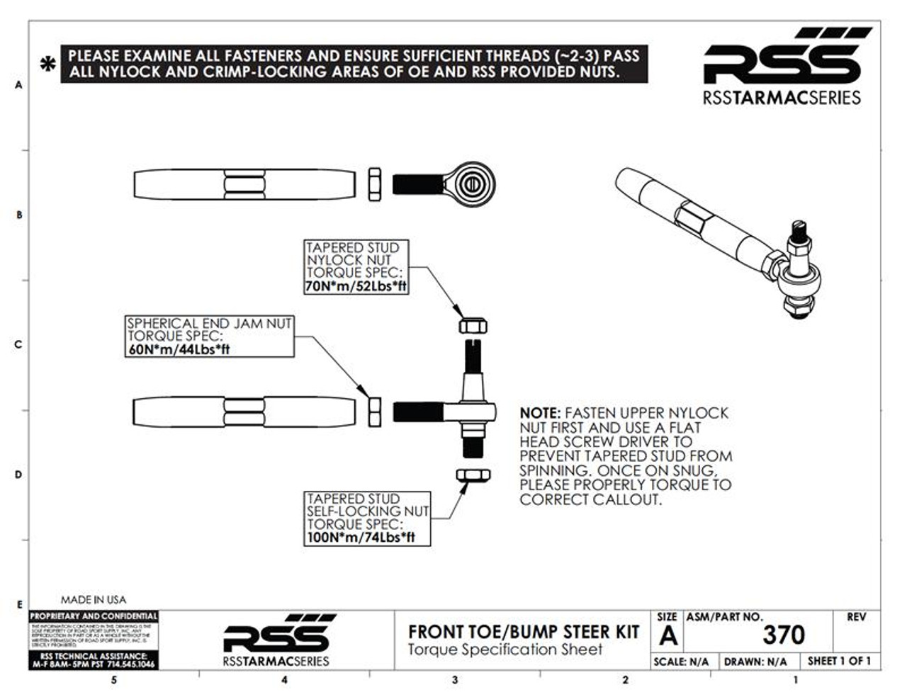 The RSS Adjustable Front Toe/Bump Steer XL Kit is designed for Porsche models that have been lowered. This kit will help minimize the suspension geometry change in the front of the vehicle. Allows for bump steer adjustment. Improves handling, feedback and control. AVAILABLE FOR ALL PORSCHE® 981, 982, GT4, 991 INCLUDING TURBO & GT3/GT3RS.