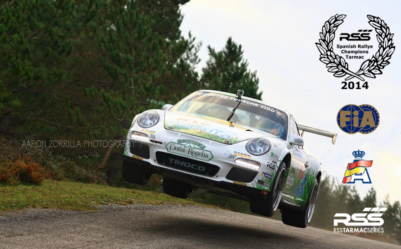 """RSS Part # TS-2 """"Tarmac Stage 2"""" Suspension Kit (997.2 GT3/RS, GT2/RS Chassis). Winner of the """"2014 Spanish Tarmac Rallye Championship"""" Results Matter…not hype"""" RSS Tarmac Stage 2 Suspension System (TS-2 or TS-2-BC) is the most rigorously engineered, tested, validated, and motorsport homologated aftermarket mono-ball suspension system available for your Porsche....Period! RSS TARMAC SERIES Motorsports Suspension Kits have been winning championships, races and setting track records in various forms of motorsport (Sports Car Racing, Endurance Racing and Rally) around the world. RSS is the preferred suspension of choice of professional race teams, tuners, track day junkies, and driving enthusiasts around the world. - 2013 ROLEX GRAND-AM GX CHAMPIONS - - 2014 Supplier of PIRELLI GT3 CUP TROPHY USA - 2014 FiA – GROUP GT RALLY WINNERS - 2015 PIRELLI WORLD CHALLENGE TC CHAMPIONS"""