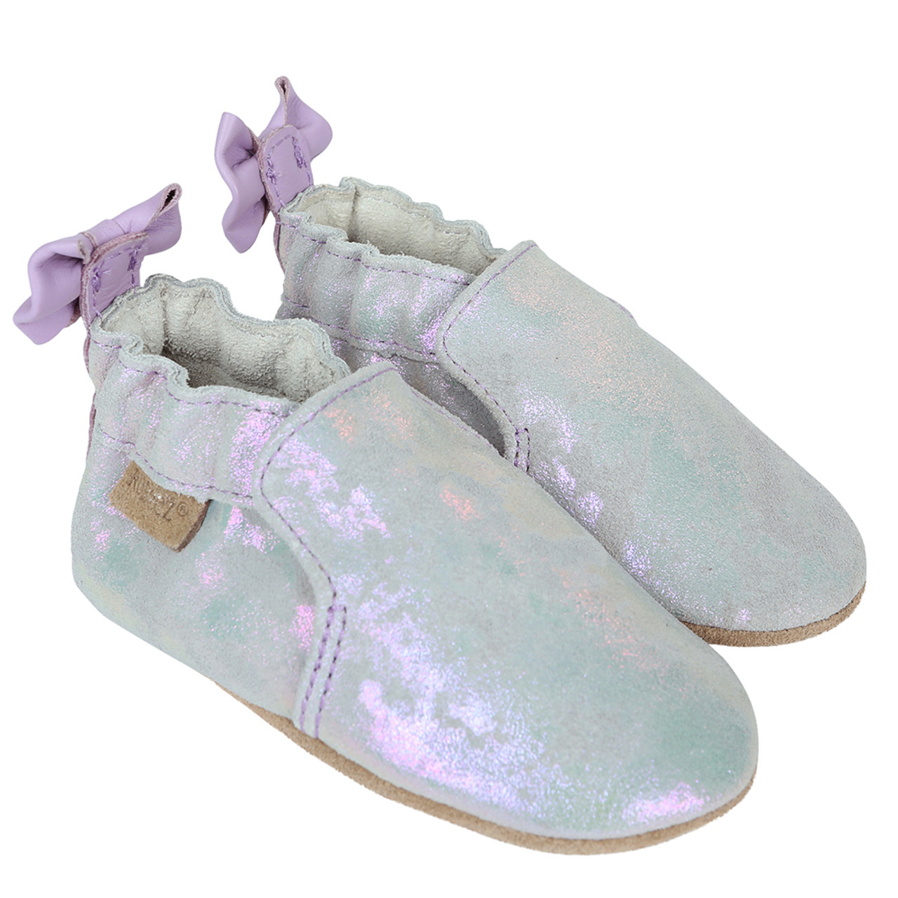 Robeez Pretty Pearl Crib Shoe(Infant/Toddler Girls') -Silver Iridescent New Arrival Best Place To Buy Online tBGzqeD7