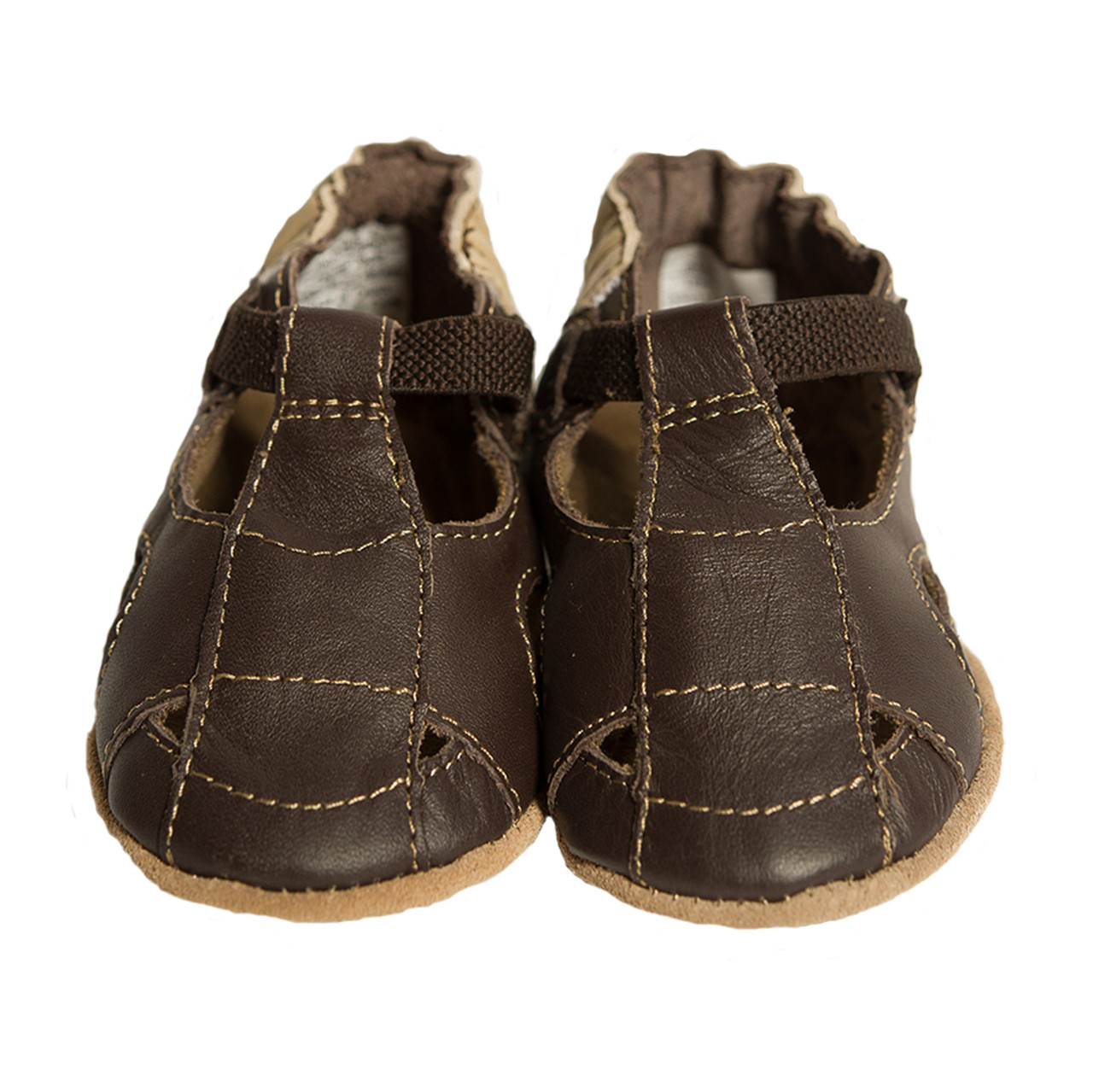 Fisherman Sandal Baby Shoes, Brown, Soft Soles - Robeez