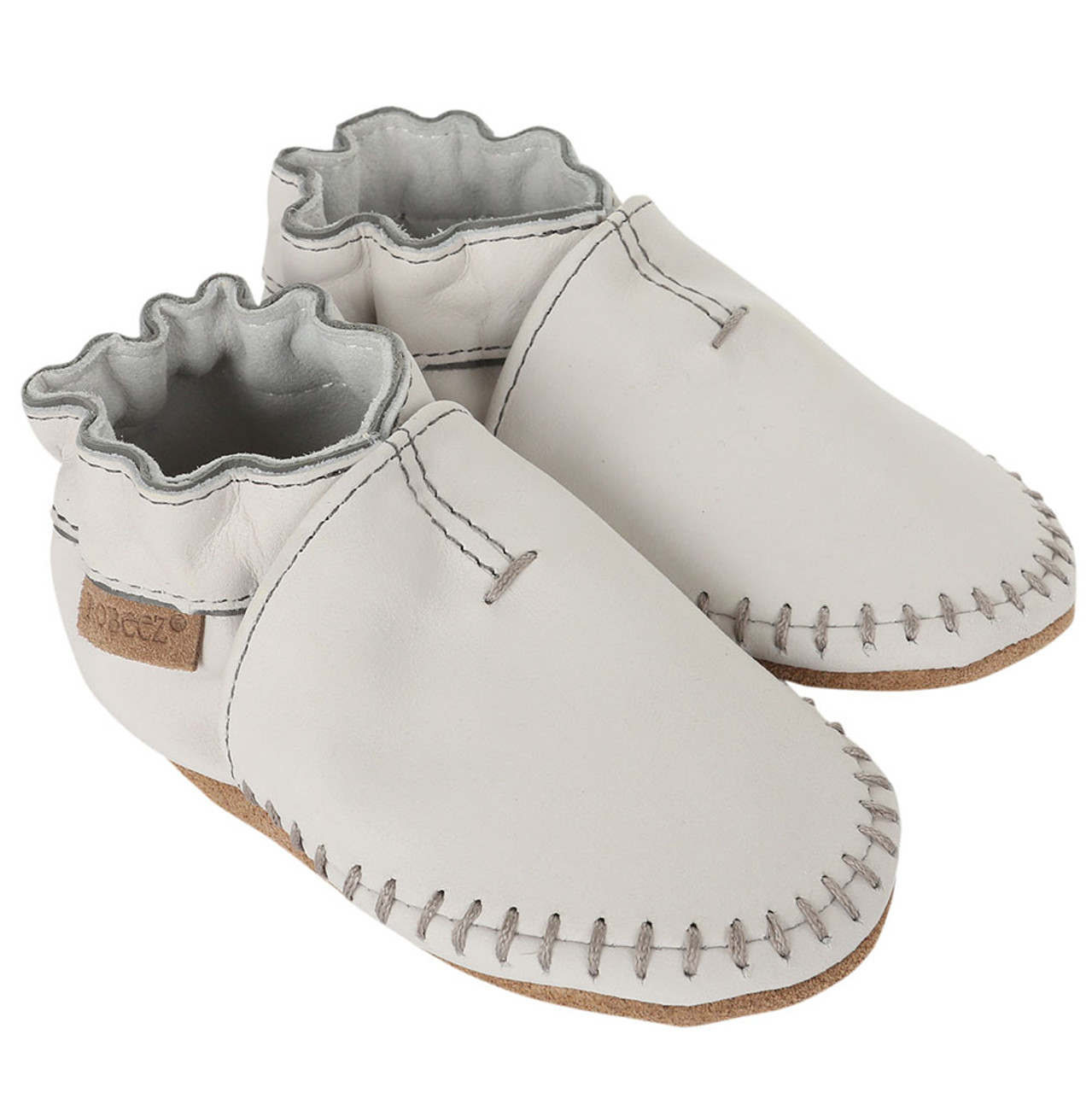 Premium Leather Moccasins Grey Soft Soles Soft Soles Baby Shoes