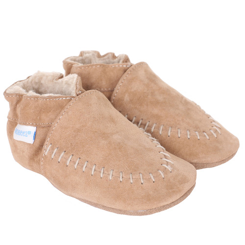 Robeez Baby Boys Cozy Moccasin Shoes