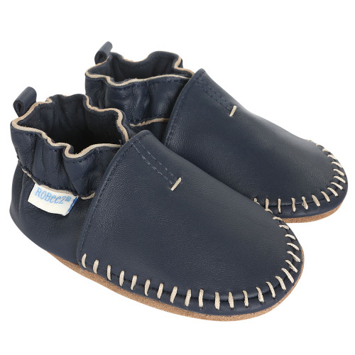 Premium Leather Classic Moccasins Brown Soft Soles Baby Shoes