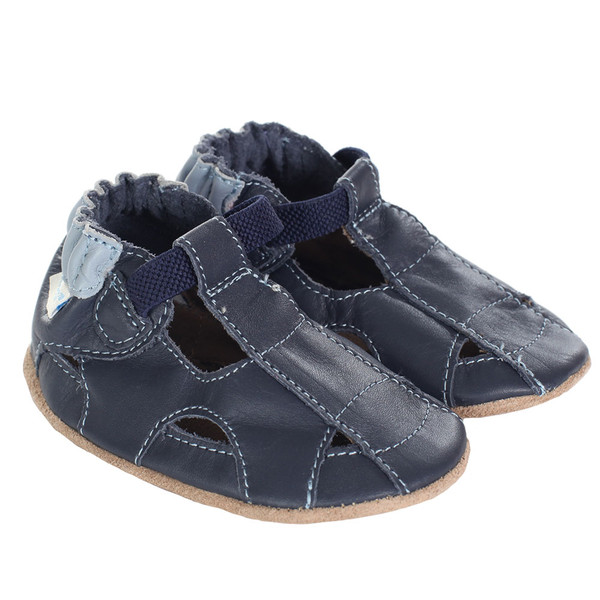 Fisherman Sandal Navy | Soft Soles | Baby Shoes | Robeez